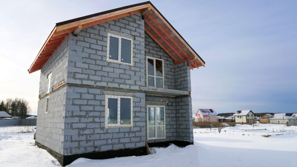 Дом из твинблока